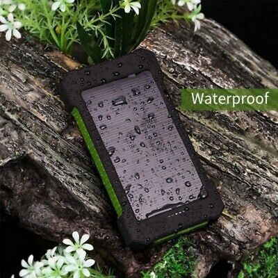 20000/50000mAh Solar Power Bank LED Portable Battery Charger for Cell Phone