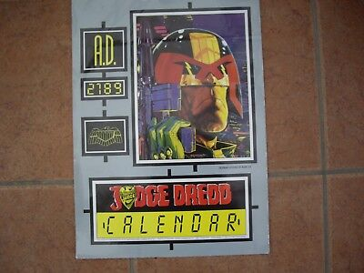 1989 Judge Dredd Calendar Unused Great Condition   £26