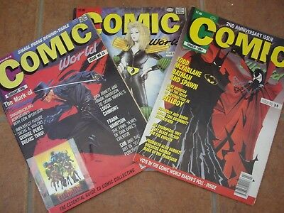 Six Comic World Magazines 1993/1994
