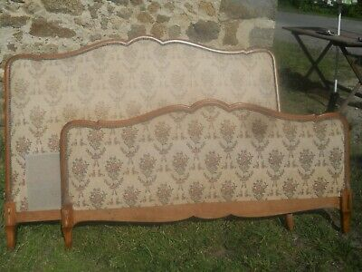 Antique French upholstered bed,