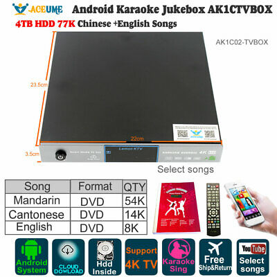 HOME KTV ANDROID 4TB HDD Karaoke Player Chinese Sing Machine