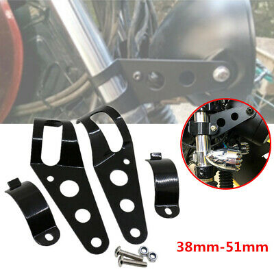 2xMotorcycle Headlight Mount Bracket Universal fit to most 34mm-50mm fork tubes