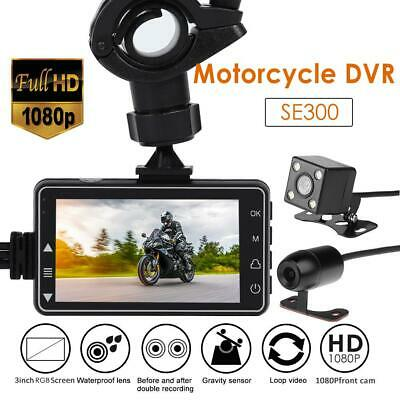 SE300 Motorcycle Bike DVR Action Camera Front+Rear View Dash Cam Video Reco #SN