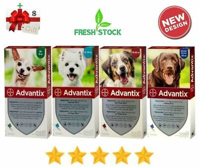 Bayer Advantix Flea & Tick Control for Dogs - 4 Tubes - Made in Germany