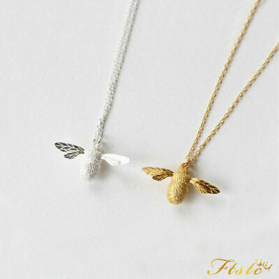 Cute Mini Gold/Silver Honey Bee Bumble Bee Chain Pendant Necklace Charm Jewelry