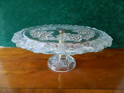 Walther Glass Large Pedestal Cake Stand.