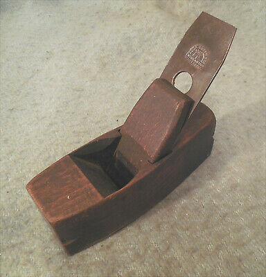 """Antique N.York Wood Coffin Smoothing Plane 7"""" x 2.5"""" Buck Brothers Blade Carpent"""