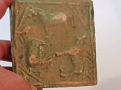 Fantastic Extremely Rare Ancient Ceramic Roman Tile/Animal Figures.160 Gr.101 Mm