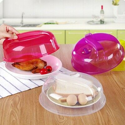 Microwave Plate Cover Steam Vent Lid Dish Food Splatter for Home Kitchen Tool US