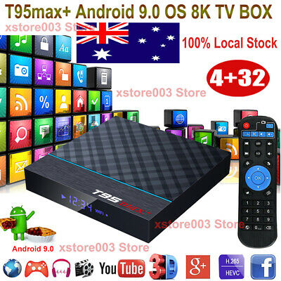 2019 X10 Plus 6K Android 9.0 4+64GB Smart TV Box Quad Core WIFI HDMI USB Movies