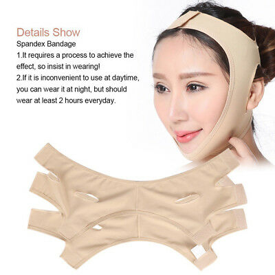 Reduce Double Chin Face Strap Face-lift Bandage Belt Shape Facial Slimming Mask~