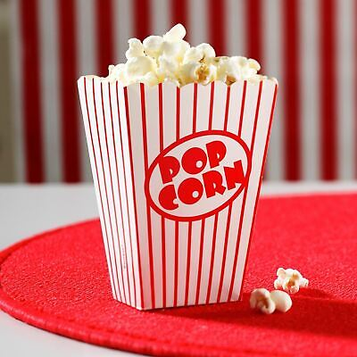 80 Pcs Party Popcorn Boxes Retro Cinema Party Favour Treat Boxes Birthday Party