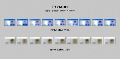 [SF9] RPM ALBUM Official Photocard / RPM MAX ver.- BLACK / ID CARD