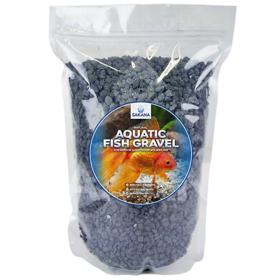 Sakana Black Aquatic Fish Gravel - Premium Aquarium Tank Pond Décor Substrate