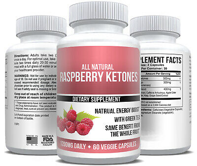 Pure Raspberry Ketones Extract Keto Fat Burner MAX Weight Loss Supplement Ketone