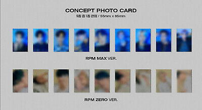 [SF9] RPM ALBUM Official Photocard/ RPM MAX ver.-BLACK / Concept Photocard