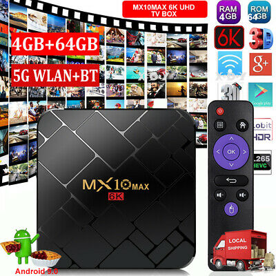 X10 Plus 6K Android 9.0 4+32G Quad Core Smart TV BOX WIFI USB HDMI2.0 3D Movies