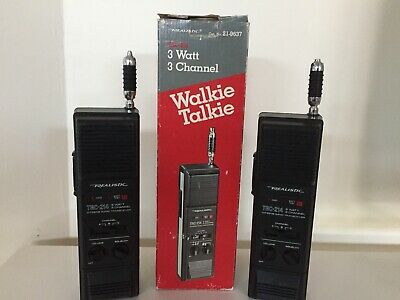 Vintage 2 Realistic TRC-214 Walkie Talkies (Stranger Things)