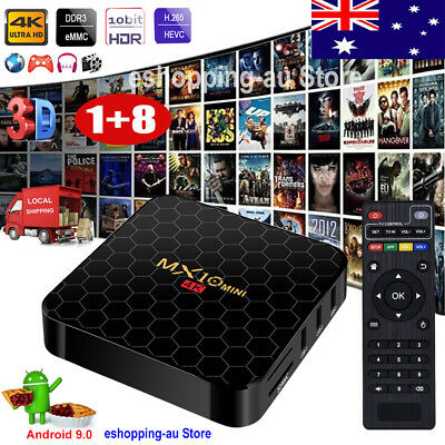 2019 Android 9.0 Pie Quad Core Smart TV BOX WIFI 4K 3D Movies HDMI Media Player