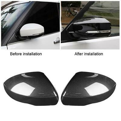 2Pcs Carbon Fiber Rearview Mirror Cover Cap For Land Rover Range Rover Sport
