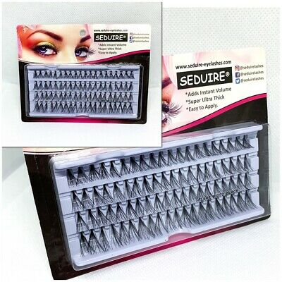 80 Stand False Eyelashes, Individual Knotted, Flare Cluster Lashes, Ultra Thick