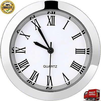 Stainless Steel Scratch Resistant Mineral Round Clock Insert With Roman Numerals