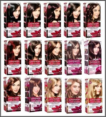 Garnier Color Sensation Intense Permanent Hair Colour Cream  Shades