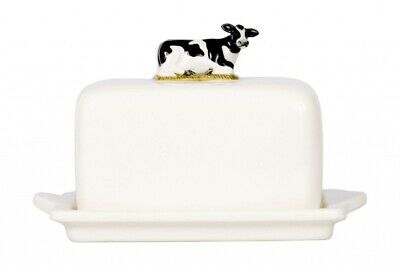 Friesian Cow Butter Dish By Quail Ceramics