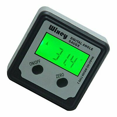 Wixey Type 2 LCD Digital Bluetooth Audio Output Inclinometer Smart Angle Gauge
