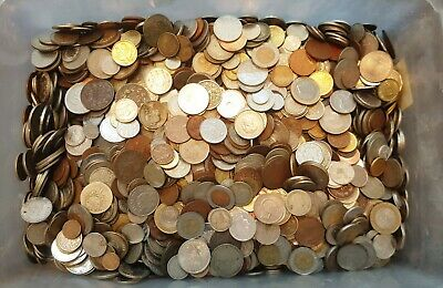 Mixed Lot Antique And Modern Coins 1.0 Kg (2.2 Lbs)