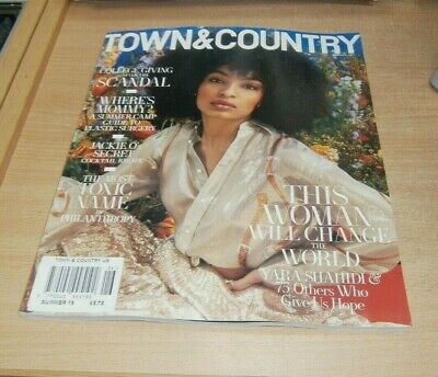 Town & Country (USA) magazine Summer 2019 Yara Shahidi, College Scandal & more