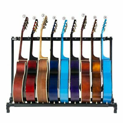 9 Way Guitar Rack Stand Holder For Multiple Guitars Electric Acoustic Bass Fold