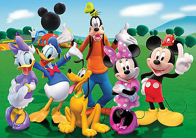 Mickey Mouse Clubhouse Glossy Wall Art Poster Print (A1 - A5 Sizes Available)