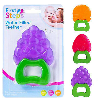 First Steps teething Water Filled Baby Teether 3 months Upwards BPA Free