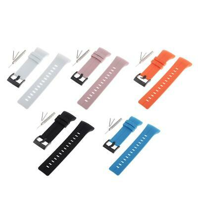 Silicone Rubber Watch Band Replacement Wrist Strap for Suunto Spartan Ultra