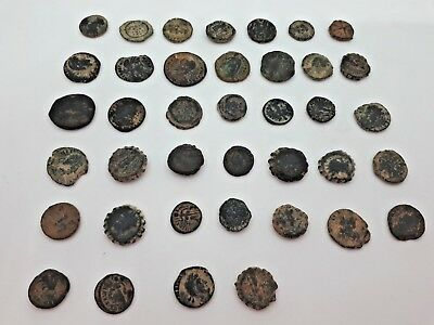 Lot of 39 Pcs Byzantine Bronze Old Coins Set Various Cities Collectible Pack