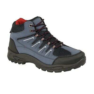 Mens Comfortable Hiking Boots Walking Rugged Trail Trekking Trainers Shoe Size