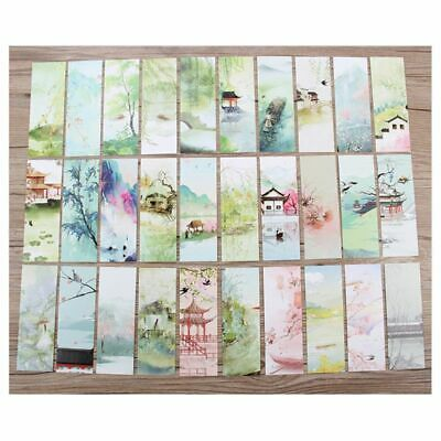 Creative 30pcs Chinese Style Paper Bookmarks Painting Cards Retro Gifts Retro