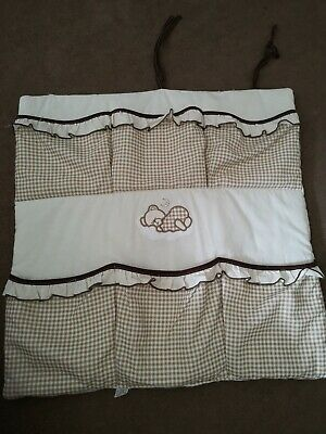 Nursery Baby Cot Tidy / Organiser for Cot/ Cotbed/Cot Bed.!Lost 1 string on top!