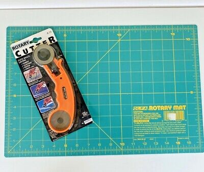 """*NEW* Rotary Cutter & Cutting Mat 11"""" x 17"""" Fabric Leather Paper"""