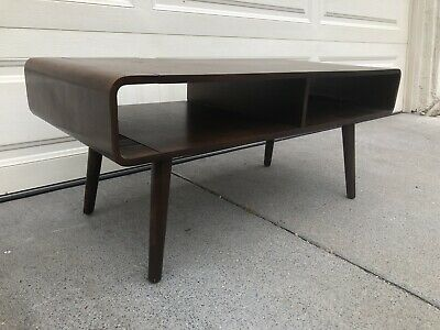 Awesome Mid Century Modern Danish Style Solid Walnut Wood Coffee Table