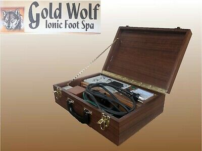Gold Wolf Ionic Foot Spa foot bath Walnut 110V