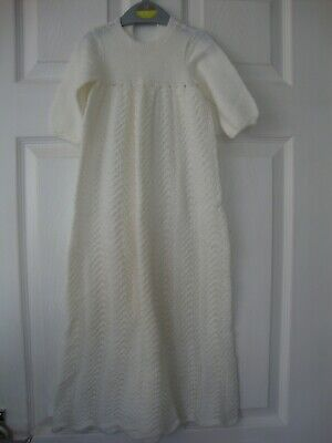 Handmade Knitted Christening Gown 6 months onwards