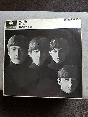 With The Beatles-The Beatles-1St Press- Large Font Stereo- Ernest J Day Vg Cond