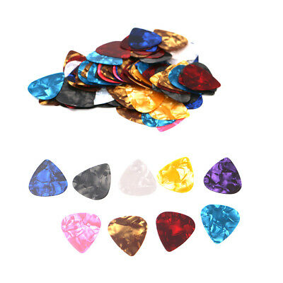 100pc Acoustic Electric Guitar Celluloid Picks Plectrums Various Thickness OP