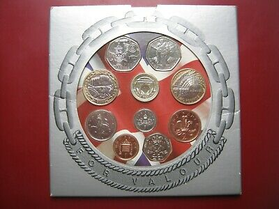 UK British 2006 BUNC 10 Coin Collection Set: Penny ~ £2 Pound Presentation Pack