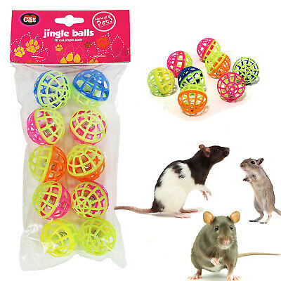 Jingle Balls Bell Toy for Rat Gerbil Mouse Hamster Chinchilla Small Animals