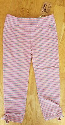 Kite BNWT new 10-11 years girl striped leggings 3/4 length trousers pink striped