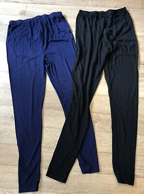 Two Pairs Of New Look Maternity Over Bump Leggings Size Medium 12-14
