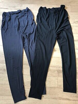 Two Pairs Of Next Maternity Over Bump Leggings Size 14